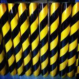Noir et jaune barre oblique Stripe grade commercial bâches réfléchissante