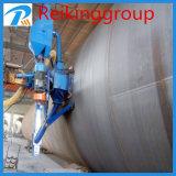 Macchina di granigliatura della parete esterna del tubo d'acciaio del trasportatore a rulli
