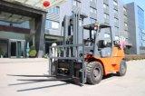 Doppelkraftstoff 7 Tonne LPG-Benzin-Gabelstapler mit 3m dem vollen freien Mast