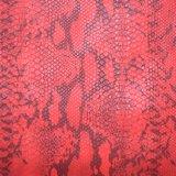 Pele de cobra animais coloridos de PU sintético Saco Artificial cabedais de couro