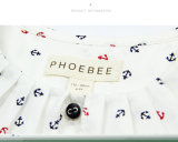 Vestuário de raparigas grossista Phoebee Kids camisas para a Primavera/Outono