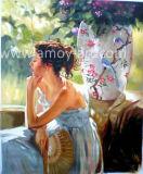 Agradable Señora figura Pinturas al Óleo sobre lienzo para decoración del hogar