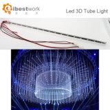 Lumière RVB DMX512 de tube de Spi DEL 3D lumière de tube d'événement de barre de nuit de 360 degrés