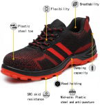 Nueva moda Zapatos de seguridad al aire libre los zapatos de trabajo de los bosques industriales