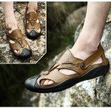 Мода на пляже босоножки с Fly крепкие мужчины повседневная обувь из натуральной кожи