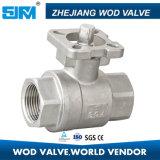 Válvula de bola de acero inoxidable 2PC con ISO5211 SS316 / SS304 / SS201 / Wcb