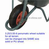 3 em 1 carrinho de mão de roda de aço do Wheelbarrow de 3Sudeste Asiático