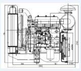 3cylinders 1500/1800 de Vastgestelde Dieselmotor QC380d van de Pomp van het Water van T/min
