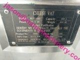 Tipo redondo inoxidable sanitario cubas del acero 600L del alimento del queso