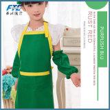 より安い綿の印刷の子供の台所作業エプロン