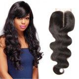 الجزء وسط شعر طبيعيّ لون جسم موجة جيّدة حزمات شعر ثانويّة [هيغقوليتي] [إيندين] شعر شريط إغلاق جسم موجة عذراء شعر