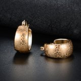 De nieuwe Oorringen van de Juwelen van het Ontwerp van de Hoepel van de Aankomst 18K Gele Gouden