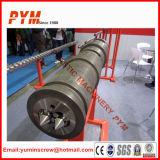 Tubulação do PVC que faz o tambor do parafuso de máquina