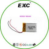 Bateria recarregável 402030 do polímero da bateria 3.7V 180mAh de Lipo para auriculares de Bluetooth