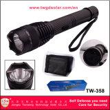Maçarico eléctrico de segurança policial de alumínio com pistolas paralisantes lanterna LED