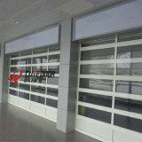 Выдвиженческая подгонянная дверь гаража панели алюминиевой перспективы рамки стеклянная