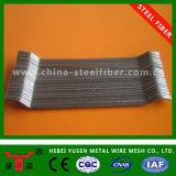 Fibra de aço com concreto de baixo carbono com alta resistência à tração