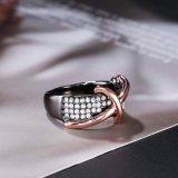 Boucle chaude de croix de diamant d'or de Rose de vente en gros de bijou de poste