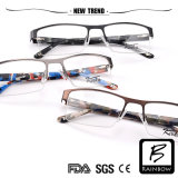 Manのための新しいTrend Camo Color Half Rim Optical Frames