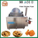 Friteuse de pommes chips de chauffage au gaz et poulet frit faisant frire la friteuse de poulet frite par machine