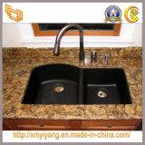 Base d'appoggio dorata della cucina del granito di Giallo Fiorito