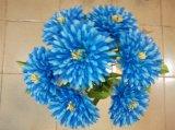 Flor de crisântemo de seda artificial de sete cabeças para decoração de casa