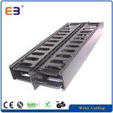 1U de 19 polegadas Organizador de cabos do lado duplo cabo plástico / Gerente de gestão de cabos