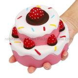 Ralentir la hausse du stress Jumbo parfumée gâteau fraise Squishy Jouets