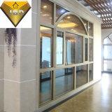 Deur en het Venster van het Aluminium van het Glas van de Fabriek van Foshan de Dubbele Thermische Onderbreking Gebogen