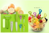 8PCS ceramisch die Bestek voor het Mes van het Fruit/Vorken/Schilmesje/Hakbord wordt geplaatst