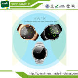 Kw18 Bluetoothのスマートな腕時計の電話サポートSIM TFカードSmartwatch