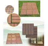 Composé en plastique en bois de Decking de plancher de WPC