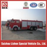 HOWO 6X4 coche de bomberos de la unidad, 12000L, 290/300 / 336HP motor diesel