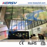 IP 65 de Waterdichte Transparante Muur die van het Glas Keasy het LEIDENE Scherm adverteren