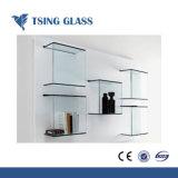 6-12mmのホームコーナーの装飾的な棚ガラス