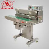 Máquina consecutiva do selo da faixa do aferidor contínuo do calor do saco com altura ajustável da selagem para o malote vertical e horizontal