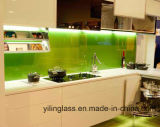 Colorir Splashback Tempered revestido de vidro