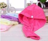 毛のねじれタオル、毛の乾燥タオルの帽子。 Microfiberの毛のねじれ