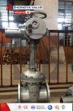 鋳造物鋼鉄はゲート弁電気アクチュエーターを搭載するフランジを付けたようになった