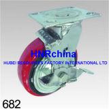 Émerillon rouge de roue de semelle d'unité centrale avec la double chasse de blocage