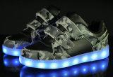 Deportes Chilren Zapatos de iluminación con LED de luz de pared a los niños calzado zapatillas (740)