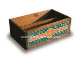 Retro Vintage Trugs de madeira feitos à mão com a impressão em cores