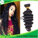異なったタイプの巻き毛の織り方の毛のインドのバージンの人間の毛髪