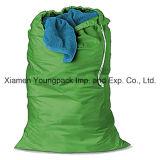 Fördernde kundenspezifische gedruckte normaler Kaliko-Arbeitsweg-Schuh-Speicher-Staub-Verpackungs-Beutel-große 100% natürliche organische Baumwollsegeltuchdrawstring-Wäsche-Wäscherei-Beutel