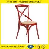 중국 공장 고아한 금속 뒤 십자가 의자