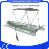 Aufblasbare Fischen-Schlauchboot-Boote mit Aluminiumc$bimini-oberseite Kabinendach