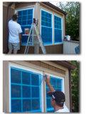 Film protecteur bleu Wuxi Qida Chine en verre de guichet de couleur