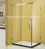 Salle de bains économique simple tempérer une douche en verre enceinte (025G)