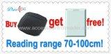 Ampliamente utilizado para el programa de lectura de la tarjeta inteligente del rango largo RFID del embalaje 125kHz Wiegand 26/34/RS232 del coche