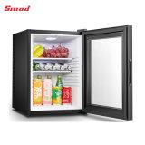 40litro Porta de vidro Hotel Mini Frigobar geladeira com bloqueio